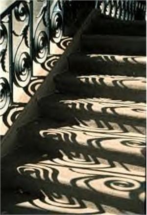 Stairway Shadows at Society Hall