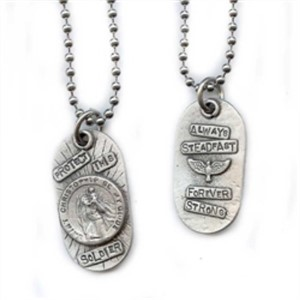 "Necklace - 16"" Protect This Soldier - Always Steadfast"