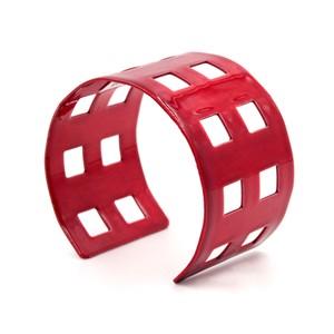 Red Powder-Coated Aluminum Bracelet