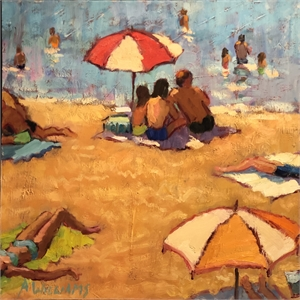 Beach Scene in Turkey by Alice Williams