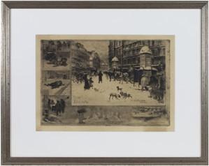 L'Hiver a Paris (or: la neige a Paris) 3rd state of 5, 1879