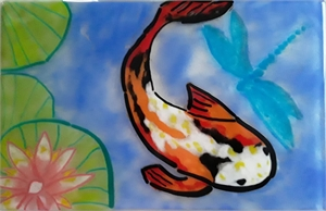 Koi with Dragonfly, 2019
