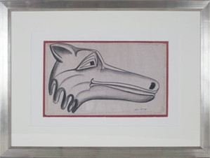 Tribal (Northwest Coast) Wolf Head #325, c.1950's