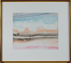 World War II Watercolor Series: Southwestern Clouds and Sky I, 2002