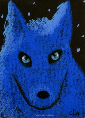 BLUE WOLF AND STARS