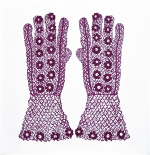 Daisy Gloves (red violet), 2019