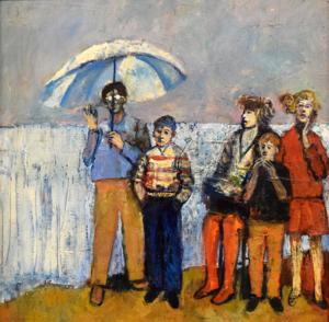 Figures with Umbrella, 1986