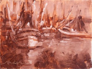 Study for Lights on the Shrimpers