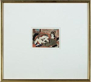 Courtesan and Young Man at Fuchu, c1850
