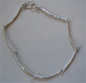 Sterling Hammered Link Necklace