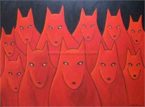 "THE GATHERING - limited edition giclee on canvas: (large) 54""x72"" $5000 or (medium) 30""x40"" $2200"