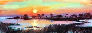 Sunset on Simmons Bayou, 2018