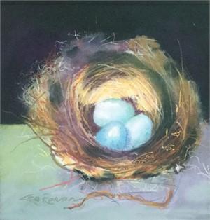 Three Blue Eggs, 2017