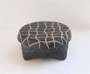 Medium Round Box 5 by Larry Halvorsen