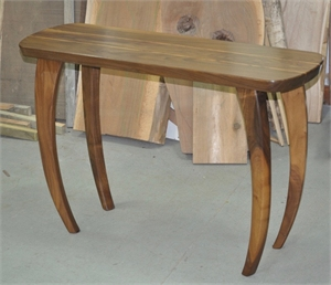 Walnut with Zebra Wood Hall Table
