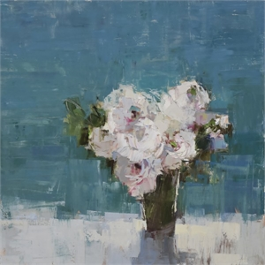 Bouquet, Teal Room by Barbara Flowers