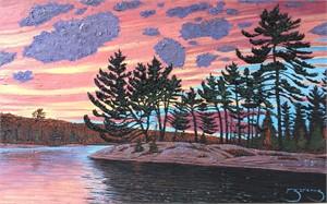 Taylor Statten Island Twilight, Canoe Lake 183797, 2018