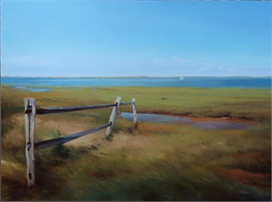 Breeze on the Marsh by Arnold Desmarais