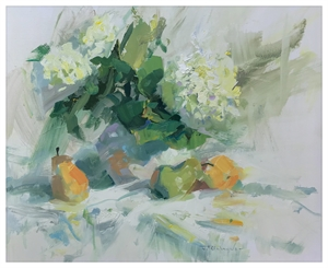 Hydrangeas and Pears, 2018