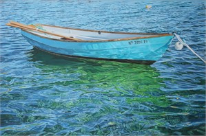 Bahamian Rowboat with Oars