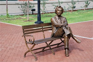 Mark Twain Bench - Life Size (6/40)
