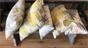 Botanical Ecoprinted Cotton Pillows (washable), 2019