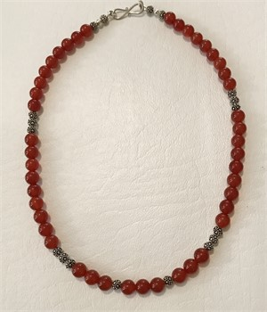Necklace - Carnelian & Sterling Silver  # 7772, 2019
