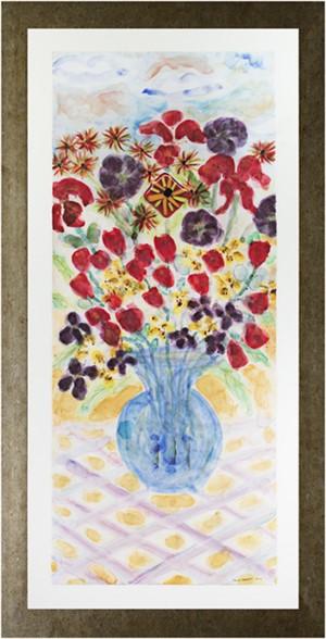 Blue Vase with Stonehenge Face:  Tulips & Lilies, AP I/XXV (AP I/XXV), 2007