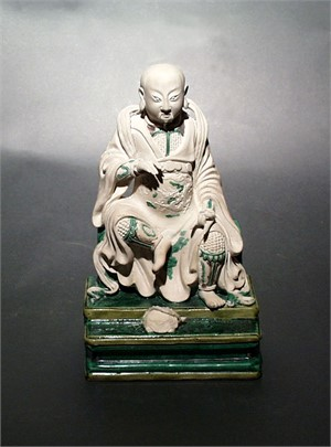 BISCUIT FIGURE OF ZHEN WU, Chinese, Ming Dynasty (1368-1644)