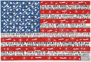 More Than a Piece of Cloth Flag, 1990