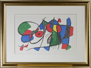 "Original Lithograph VIII from ""Miro Lithographs II, Maeght Publisher"", 1975"