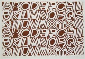Alphabet (Brown)