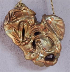 "Antique Gold Hanging Heart 7"" original price $195 PROMO $98"