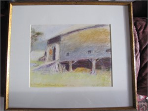 Study for Painting, Underside of the Barn (Oil owned by Robert Redford), 1970