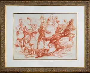 Homage a Leonardo d'Vinci (12 Figures, 2 Horses from De La Bataille Vol. I ), 1978