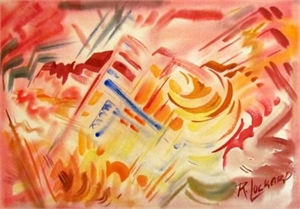 #1 Abstraction (Pink Mountainscape), c.1945