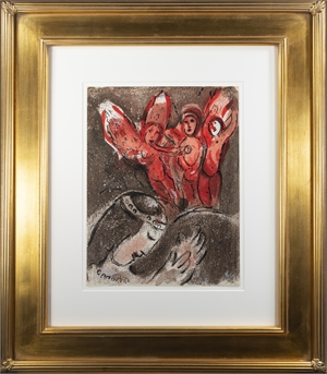 Sara et les Anges (Sarah and the Angels), M 240/263 by Marc Chagall