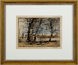 Le Rhone a Avignon (signed in pencil), 1910