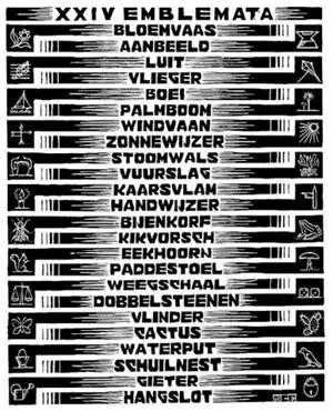 Emblemata (Table of Contents), 1932