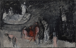 """Study for """"On the Banks of the Acheron"""" by Thaddeus Radell"""