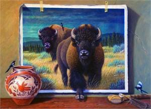 Buffalo and Magpies