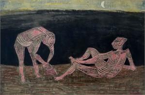 Nocture: Figures on a Beach, circa 1957