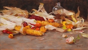 Corn and Chili Peppers by Kathy Anderson