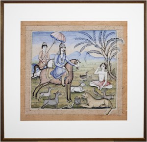 The Kings and the Animals (Indian Miniature), 2004