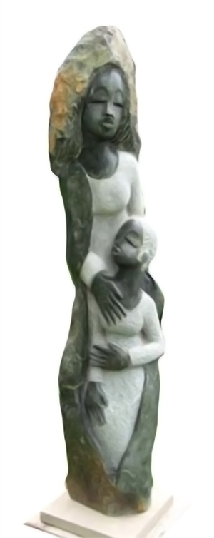 Mother and Child by Bernard Sakarombe Tanyanyiwa- African (Shona)