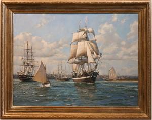 Whaler Essex Leaving on her Maiden Voyage