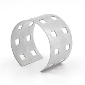 Silver Powder-Coated Aluminum Bracelet