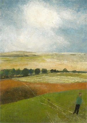 The Dry Hill Track to Ham by David Brayne R.W.S.