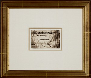 Westminster Abbey - Title (Six Etchings w/Selections), 1891