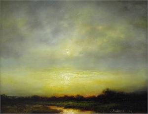 Silver Green Sunset